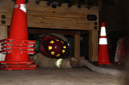 Firefighters finished the program with a hands-on survival course.