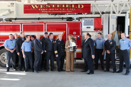 Congresswoman Brooks met with firefighters from Westfield this morning.