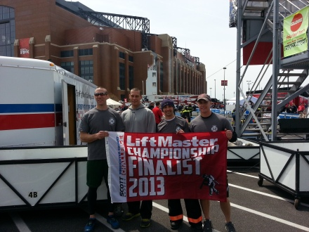 Westfield firefighters at this  year's Indianapolis Combat Challenge.